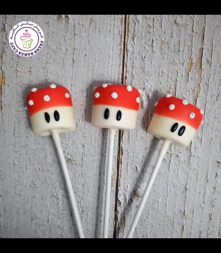 Marshmallow Pops - Mushrooms