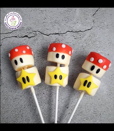 Marshmallow Pops - Mushrooms & Stars