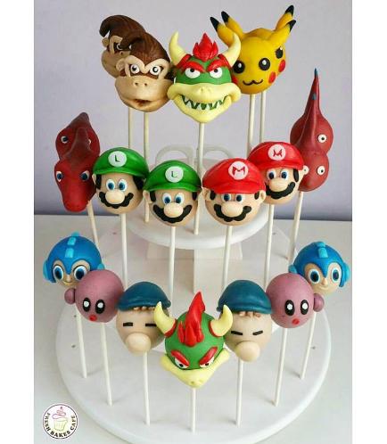 Super Smash Bros Themed Cake Pops