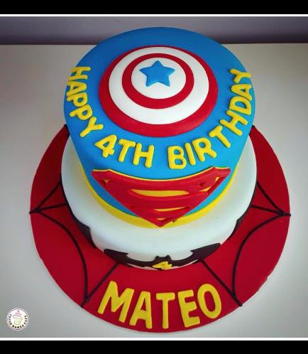 Superheroes Themed Cake 08b