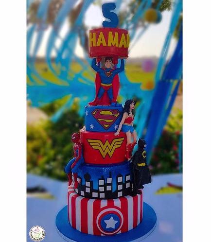 Superheroes Themed Cake 09