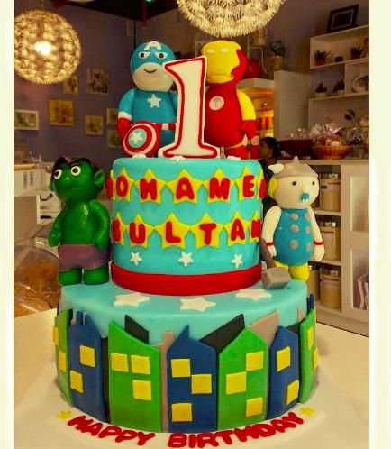 Superheroes Themed Cake