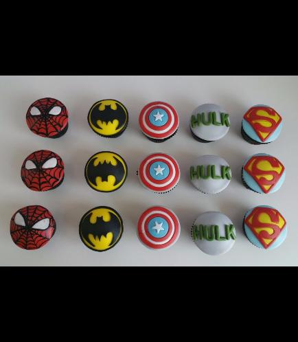 Superheroes Themed Cupcakes 02