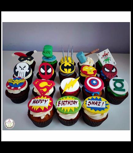 Superheroes Themed Cupcakes 05