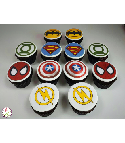 Superheroes Themed Cupcakes 07