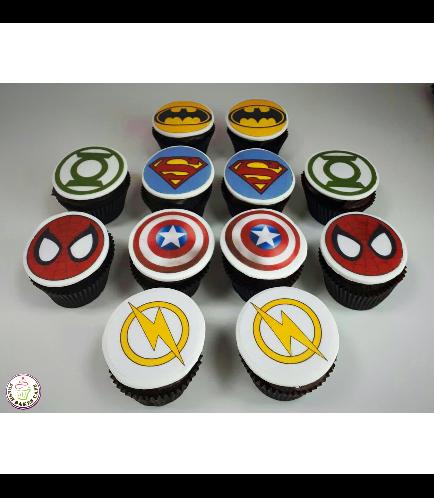 Superheroes Themed Cupcakes 07