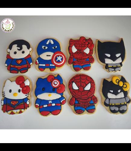 Superheroes & Hello Kitty Themed Cookies