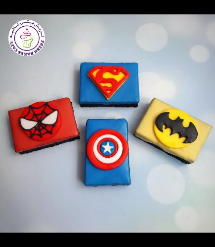 Superheroes Themed Brownies