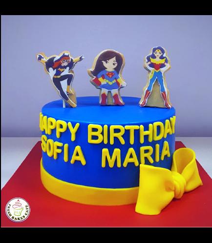 Superheroes Themed Cake - For Girls 01