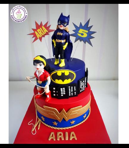 Superheroes Themed Cake - For Girls 03