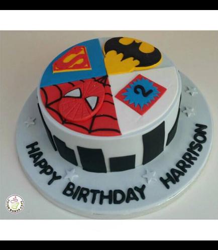 Superheroes Themed Cake 07