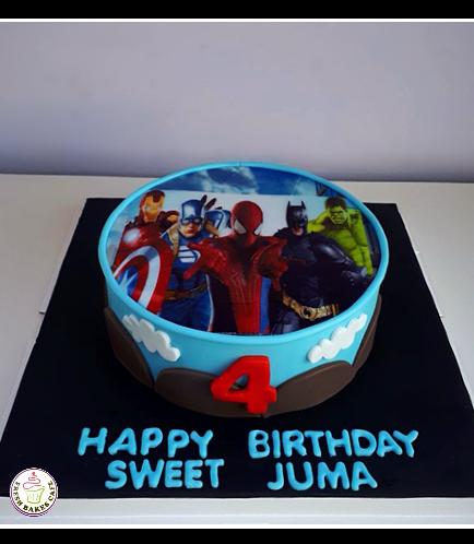 Superheroes Themed Cake 13