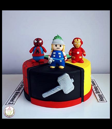 Superheroes Themed Cake 14a