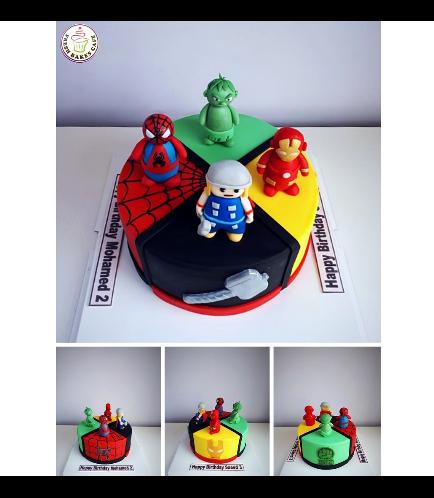 Superheroes Themed Cake 14b