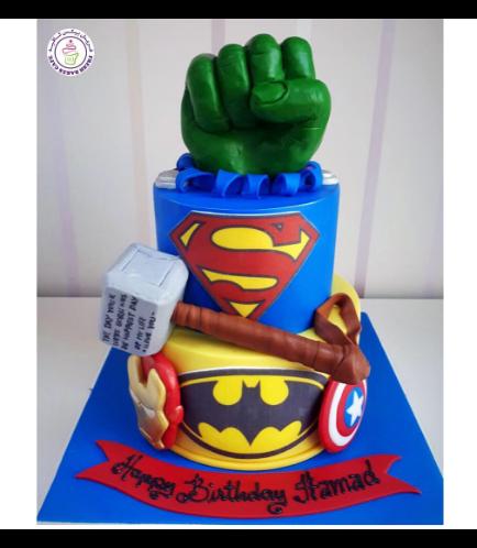 Superheroes Themed Cake 16