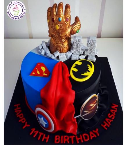 Superheroes Themed Cake 25
