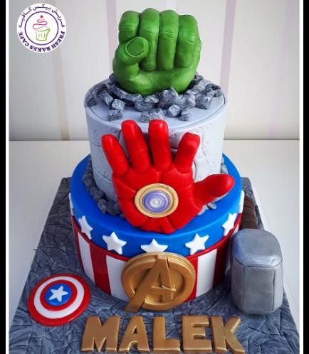 Superheroes Themed Cake 27