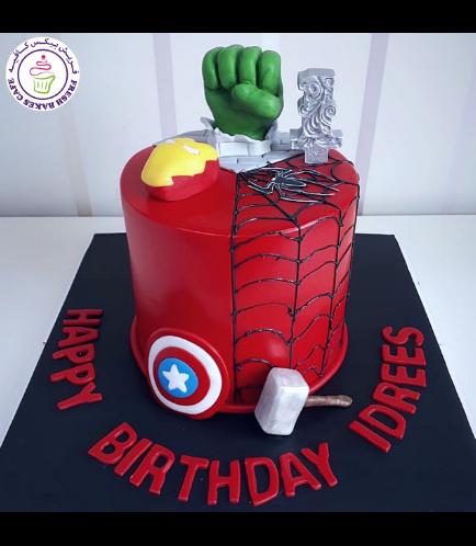 Superheroes Themed Cake 26