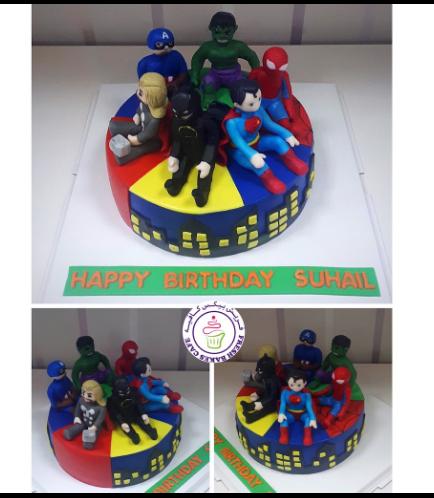 Superheroes Themed Cake 28