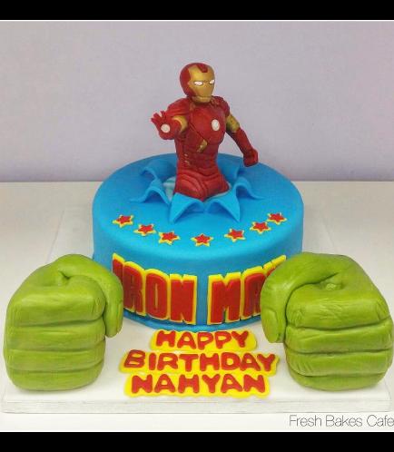 Superheroes Themed Cake 02