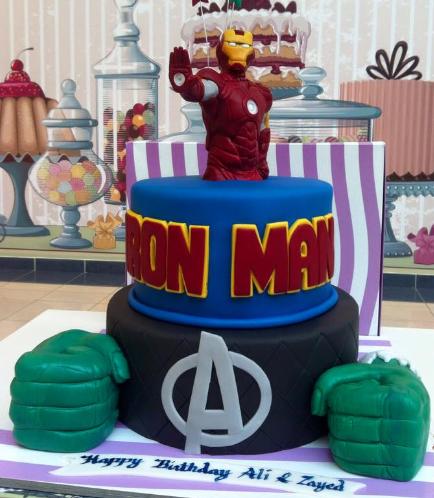 Superheroes Themed Cake 01
