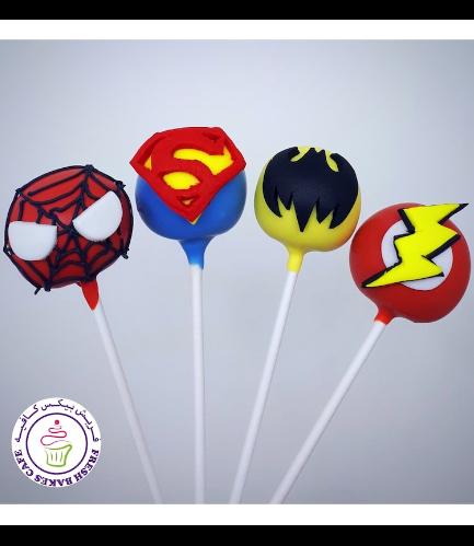 Superheroes Themed Cake Pops 06
