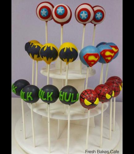 Superheroes Themed Cake Pops 01