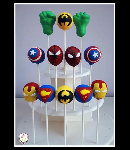 Superheroes Themed Cake Pops 03