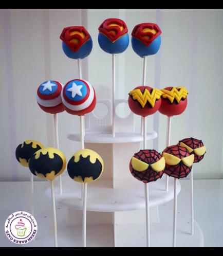 Superheroes Themed Cake Pops 04
