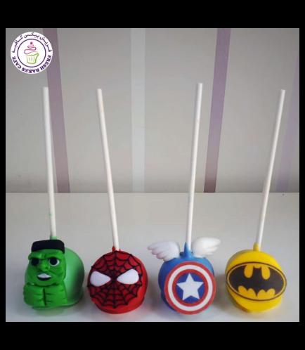 Superheroes Themed Cake pops 05