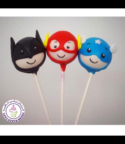 Superheroes Themed Cake Pops 07