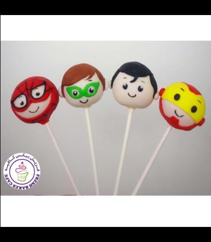 Superheroes Themed Cake Pops 08
