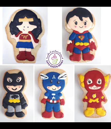 Superheroes Themed Cookies - Characters 03