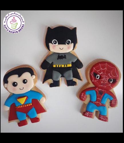 Superheroes Themed Cookies - Characters 05