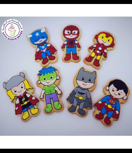 Superheroes Themed Cookies - Characters 07