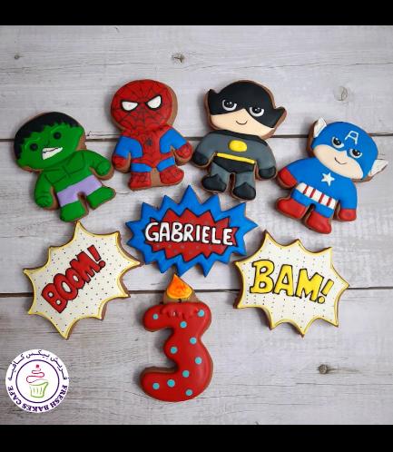 Superheroes Themed Cookies - Characters 09
