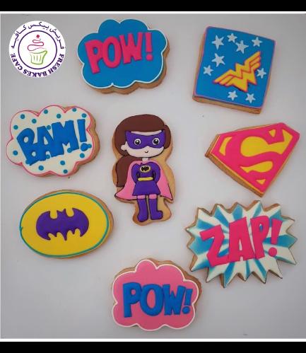 Superheroes Themed Cookies - Girls