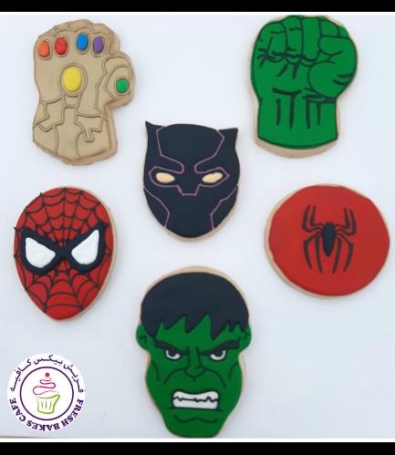 Superheroes Themed Cookies - Logos 05
