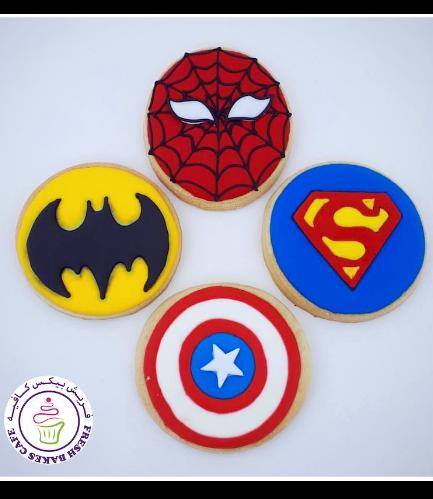 Superheroes Themed Cookies - Logos 04