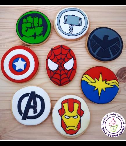 Superheroes Themed Cookies - Logos 06