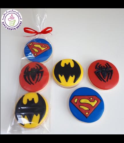 Superheroes Themed Cookies - Minis