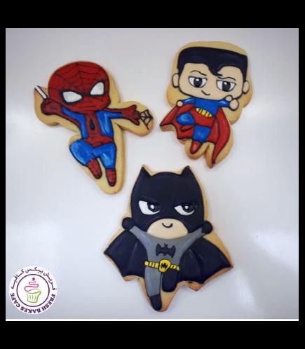 Superheroes Themed Cookies - Characters 01