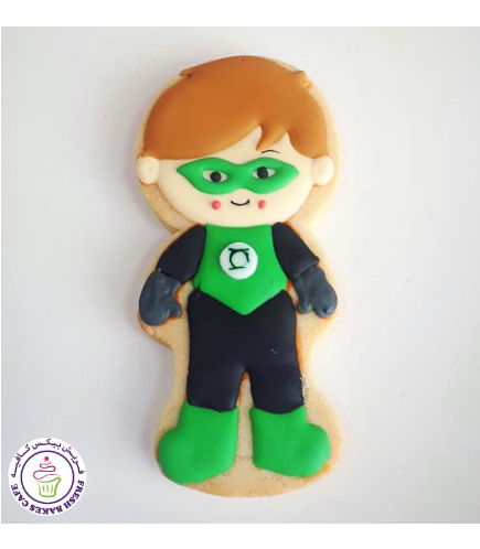 Green Lantern Themed Cookie 01