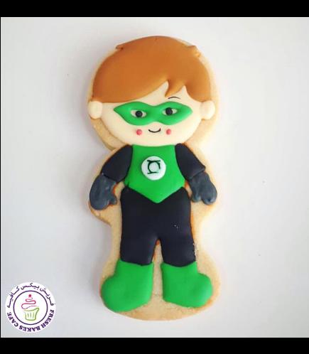 Green Lantern Themed Cookie
