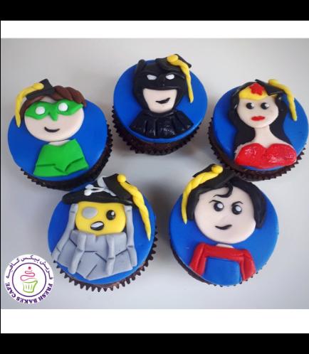Superheroes Themed Cupcakes - Graduation