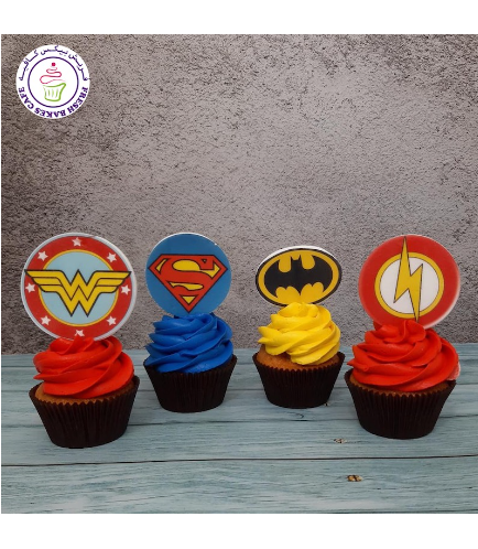 Superheroes Themed Cupcakes - Logos - Printed Pictures 05