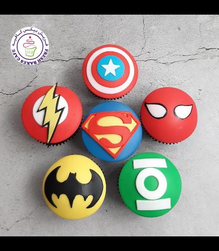Superheroes Themed Cupcakes - Logos 04b