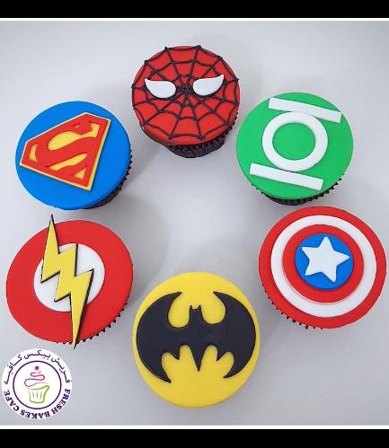 Superheroes Themed Cupcakes - Logos 04a