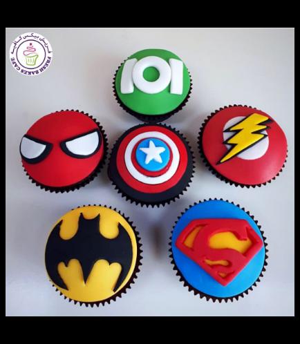 Superheroes Themed Cupcakes 08
