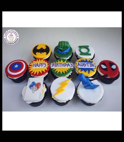 Superheroes Themed Cupcakes 09